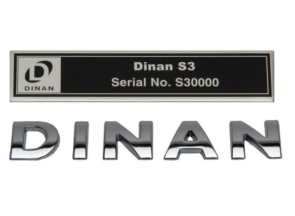 S3PLAQUE_BADGE - Dinan Underhood Plaque and Dinan Deck Lid Badge Combo - S3 Image